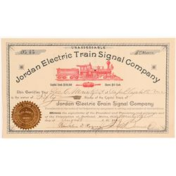 Jordan Electric Train Signal Stock  #106610