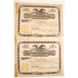 Paducah & Illinois Railroad Company Stock Certificates  #79622