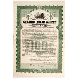 San Juan Pacific Railway Co Bond  #81772