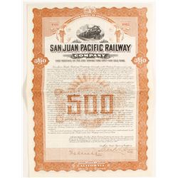 San Juan Pacific Railway Co. Bond  #81721