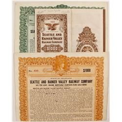 Seattle and Rainier Valley Railway Co Bonds (3)  #81728