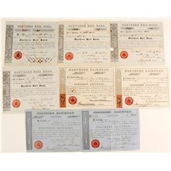 Two Northern Railroad Stocks with Revenue Stamps with Others  #79606