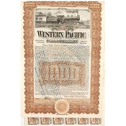 Western Pacific Railway Bond  #84103