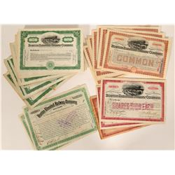 Railroad / Transportation Stock Certificates / Boston Elevated Railway / 108 Items.  #109902