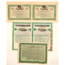 Steamship Manufacturing Stocks and Bonds (5)  #105609