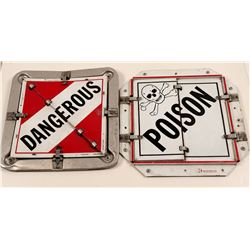 Truck HazMat Placards (2)  #101769