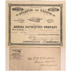 Atlantic and Pacific Aerial Navigation Co. Stock, 1897  #110205