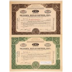 Bendix Helicopter, Inc. Stock Certificates  #103394
