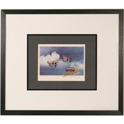 "Stearman ""Red Baron"" Desk Display and Framed Print  #106370"
