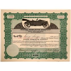 Woods Mobilette Co. Stock Cert, 1914  #110195
