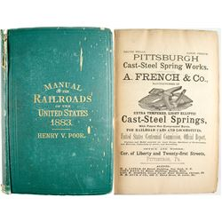 Poor's Manual of Railroads Of the US 1883  #53621