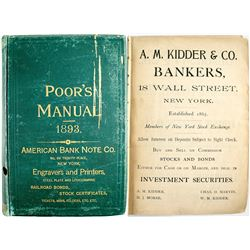 Poor's Manual of Railroads Of the US 1893  #53632