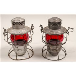 Railroad Lamps (Set of 2, Vintage)  #106001