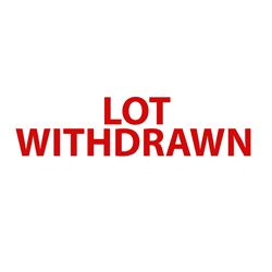 Lot withdrawn  #