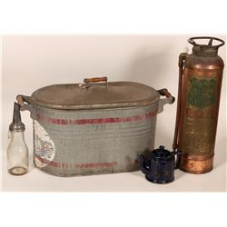 Foamite Fire Extinguisher, Martin Ware Wash Tub, bonus items  #108006