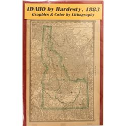 Map of Idaho by Hardesty  #59349