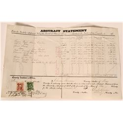 Storey County Proceeds Of Mines Report, 4th Q 1870  #110186