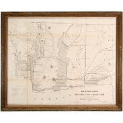 Washington Gold Region Map  #89921