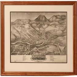Nevada City Bird's Eye View, Framed Reproduction  #110720