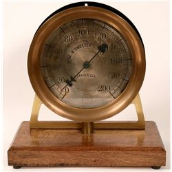 Giant Pressure Gauge by Mine and Smelter Supply Co.  #110726