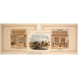 """Store of Mrs E. E. Fisher"" Hand-colored Lithograph, etc.  #74592"
