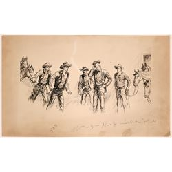 Group of Cowboys   #110426