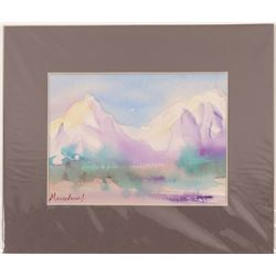 "watercolor  / "" Pueblo Mountains"" / By Marcelene J.  #105400"