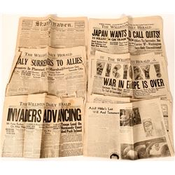 Group of Newspapers with World War II Titles  #110297