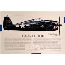 Lt. Paul Drury and Horst Petzschler, WWII Aces  #109417