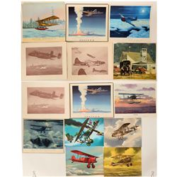 Various Artist WWI and WWII aircraft.  #109443