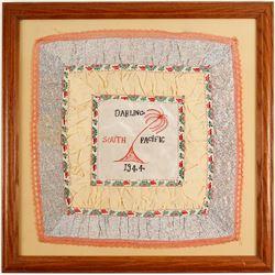 WW2 Framed Embroidery  #89920