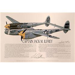 "Capt. Jack M. Ilfrey,P-38/ Lefty Gardner ""White Lightening  #109402"