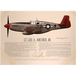Lt. Lee A. Archer Jr.  (Tuskegee Airmen)  #109400
