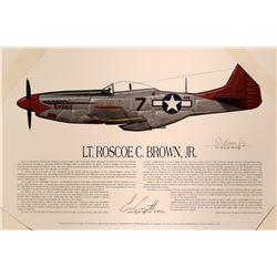 Lt. Roscoe C. Brown Jr. P-51 Mustang  #109401