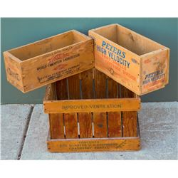 Ammuntion and Cranberry Wood Boxes  #110692