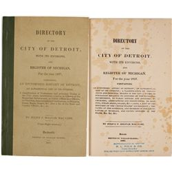 Directory of the City of Detroit and a Register of Michigan for 1837  #82827
