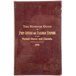 Post Office and Railroad Station Directory, 1876  #55114