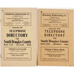 1941 and 1942 Telephone Directories for South Douglas County, Oregon  #55647