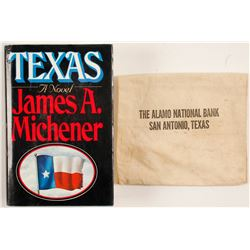 Texas by James Michener and Bank Bag  #86307