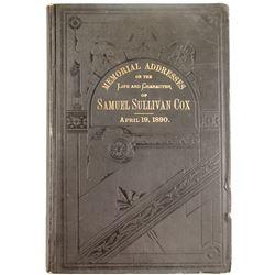 Book of Life & Character of Samuel Sullivan Cox  #63414