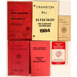 Fire Department Booklets / Alarm Box Locations/ 6 Items.  #109706