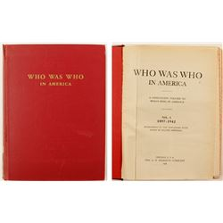 Who Was Who in America by Marquis, 1897-1942  #76541