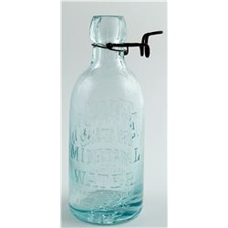 AETNA MINERAL  WATER BOTTLE  #29685