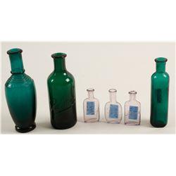Colored Perfume Bottles/ Solon Palmer /   6 pieces  #78814