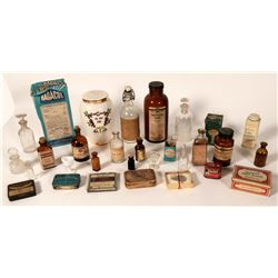 Drug Store Paper-Label Bottle Collection  #110738