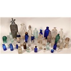 Eclectic Embossed Drug Store Bottle Collection  #110645