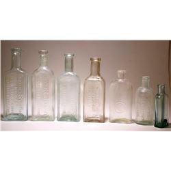 Medicine Bottle Lot  ( 7 pieces )  #77434