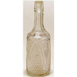 Pressed Glass Decanter/Backbar Bottle  #46741