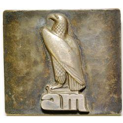 """AM"" Bald Eagle Silver Belt Buckle  #87112"