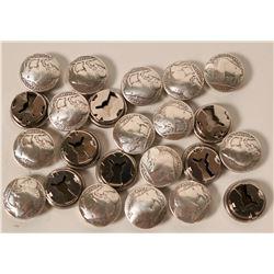 Buffalo Nickel Button Covers  #110661